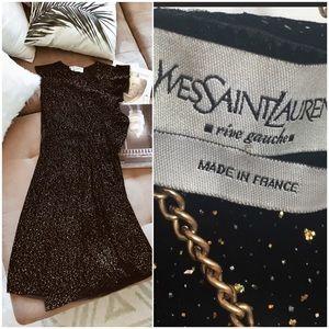 YSL Custom Black Sparkling Dress 💎🥂✨